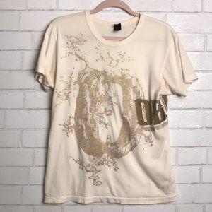 Obey T shirt cream Medium